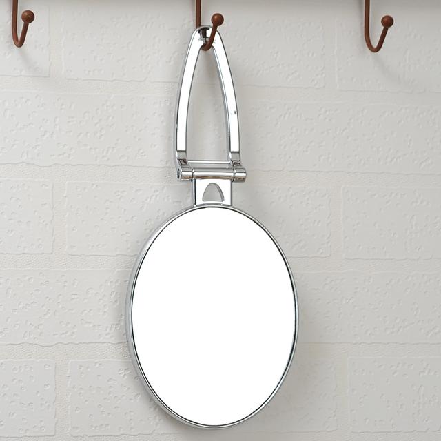 Nueva 6 pulgadas de escritorio espejo de maquillaje portátil plegable mango espejo cosmetología espejo 2-Face baño ovalada espejo 3X zoom