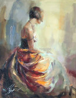 short hair Sexy Lady Modern Art Skilled Artist Handmade High Quality Knife Beauty Oil Paintings instrument Painting On Canvas