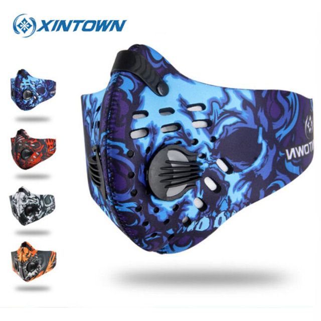 XINTOWN Cycling Face Mask Men Women Sport Masks Smog Anti Pollution Anti Dust Mascara Ciclismo Bisiklet Maske MTB Bicycle Mask