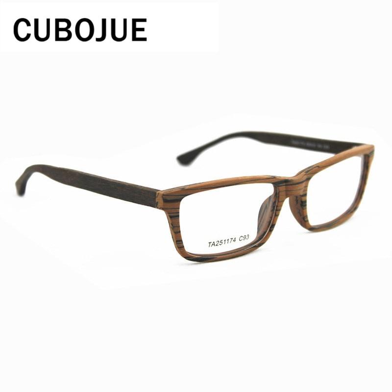 Cubojue pequeño cuadrado acetato gafas hombres mujeres madera grano ...