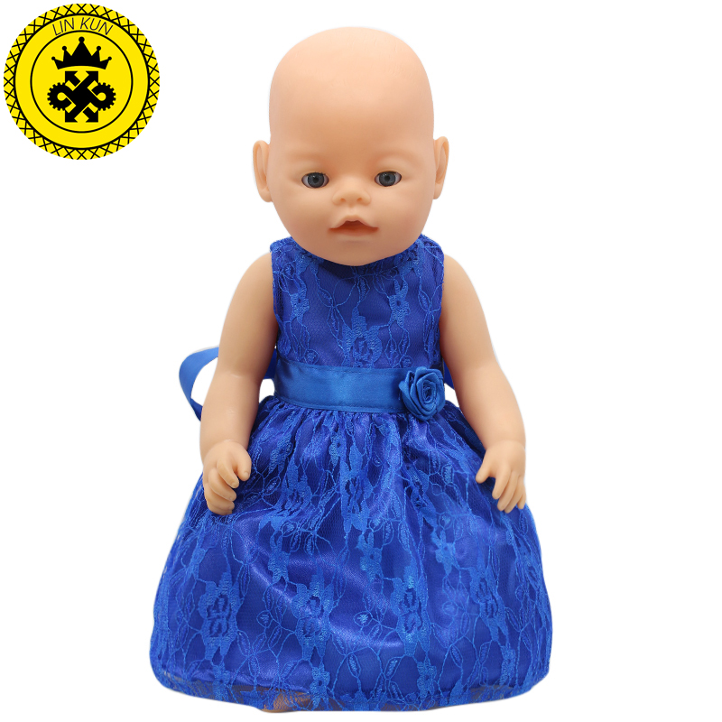 15 Colors Princess Dress Doll Clothes Fit 43cm Baby  Doll Clothes And Accessories D-20