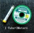 M705 plomo plata libre 3% DIY prefiere 0.8 mm alambre de soldadura 3 metros envase de tubo