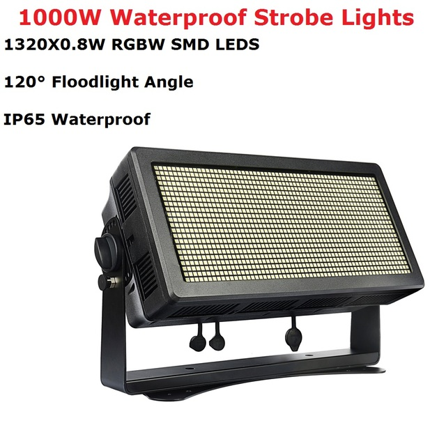 New Design 1000W Waterproof Strobe Lights 1320Pcs 0.8 RGBW 4IN1 Outdoor Flash Lights Projector Perfect For Dj Club Disco Shows