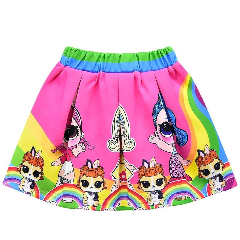 Lol/Детская летняя юбка-пачка с цветочным принтом для девочек; модная короткая юбка-американка принцессы; детская одежда