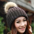 Winter thick top quality kroean style women hat knit crochet keep warm bulb solid color beanies Free Shipping MF355215