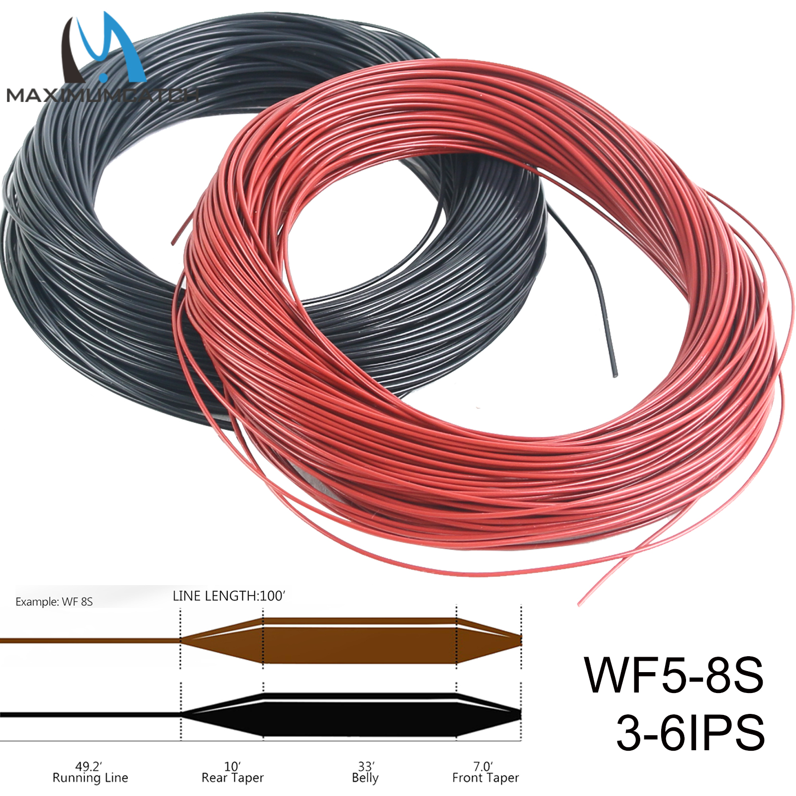WF-7-F floating FLY LINE big fly taper w// LOOPS ***Made in Canada***