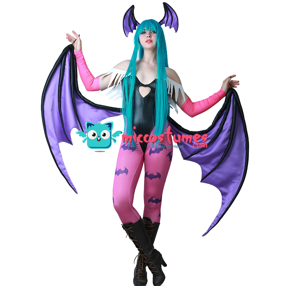 Image 2 - Morrigan Aensland Cosplay Costume with Wings Whole Set Outfit-in Movie & TV costumes from Novelty & Special Use