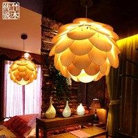 Bambus legenda Chiński Nowoczesna restauracja Southeast Asian Art Żyrandol sypialni oświetlenie lampy badania instrukcja