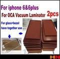 2 шт. для ОСА вакуумный ламинатор кремнезема прокладка pad коврик для iphone 6 и 6, а также использовать для стекла и диск вместе Аксессуар пучки