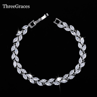 2015 Luxury Bridal Bracelet Sliver Plated Sparkling White Cubic Zircon Diamond Women Bracelets For Wedding Jewelry