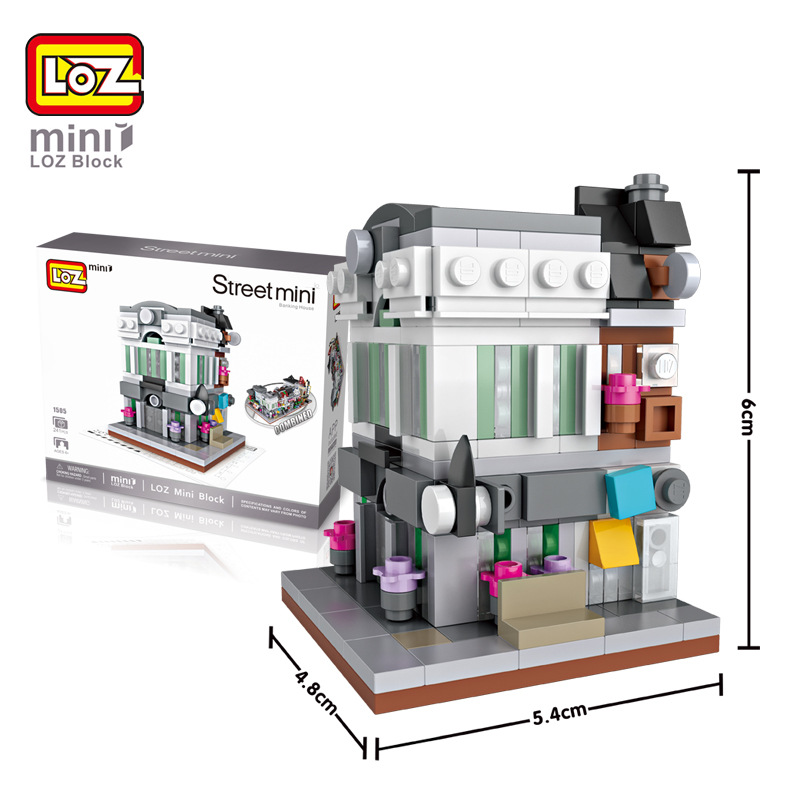 6pcs/lot New Arrivals Street Mini Series LOZ Mini Building Blocks 3D Model Toys Kid Gifts DIY Classic Assembled Blocks Toys 100% new le82gm965 sla5t bga chipset