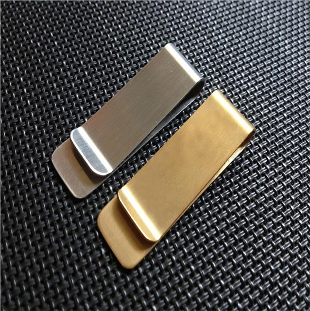 239216aa309f Нержавеющая сталь зажим для денег золотого, серебряного цвета 2 цвета  Бизнес карты