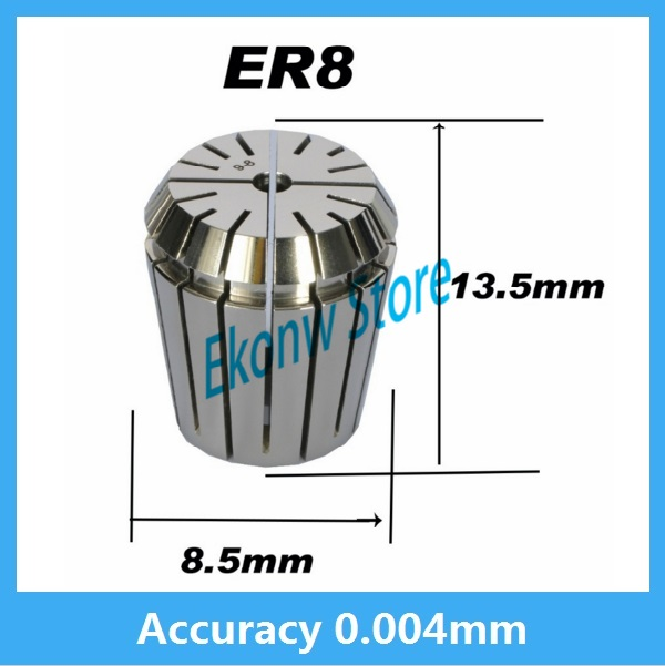 High precision ER8 Accuracy 0.004mm Spring Collet For CNC Milling Machine Engraving Lathe Tool Free Shipping useful 15pcs set 2mm 16mm er25 precision spring collet for lathe chuck for cnc milling engraving machine best price