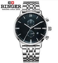 Nueva Binger relojes hombres marca de lujo militar ejército deporte al aire libre relojes de Hora Dual Digital de Cuarzo Reloj de pulsera banda de Cuero