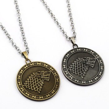 Game of Throne Necklace Song of ice and fire Pendant Man Women stainless steel Chain Necklaces TV