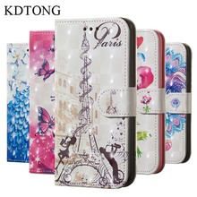 KDTONG Case sFor Samsung Galaxy A9 2018 Flip Leather + Soft Silicone Walte Cover For Phone Bgas