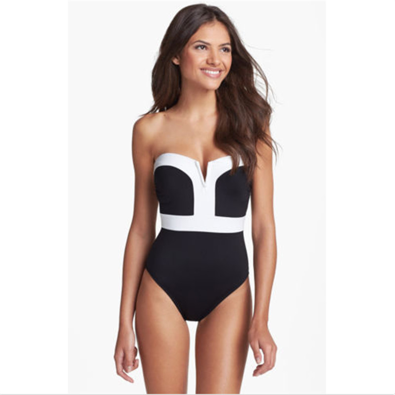 Sexy Women One-piece Padded Monokini Bikini Swimsuit Backless Swimwear GLANE