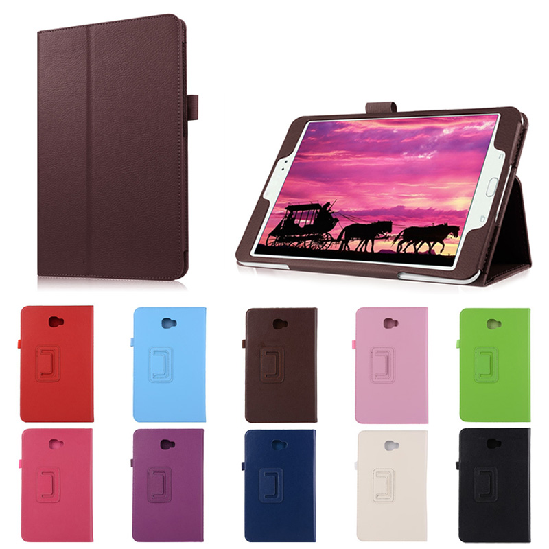 New Tablet Folding PU Leather Cover Stand Protective Case For Samsung Galaxy Tab A 10.1 2016 T580N EM88  for samsung galaxy tab a a6 10 1 2016 t585 t580 t580n case girl bling butterfly pu leather book stand protective tablet cover