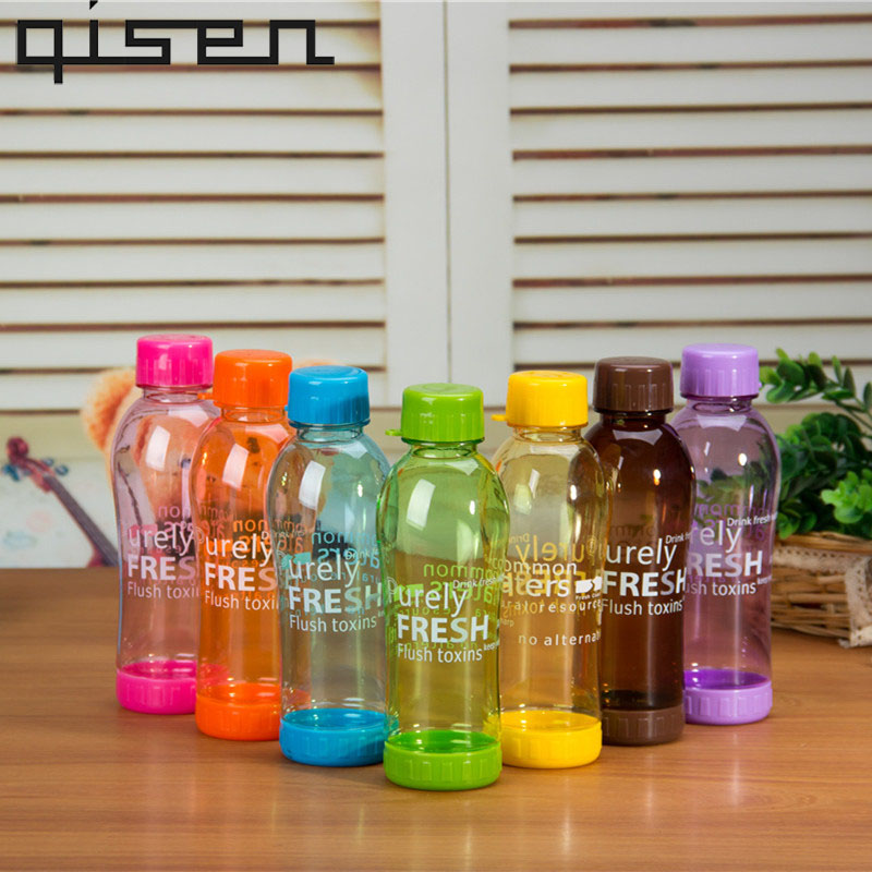 Fashion Breakproof Student Water Bottle 19.5x6.5cm Travel Camping Lemon Juice Drinkware Readily Space Bootl 550ml ...