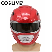 Coslive Red Full Head Helmet Mask Cosplay Costume Props Adult Classic Cool Cosplay Accessories High Quality Cosplay Prop цена и фото