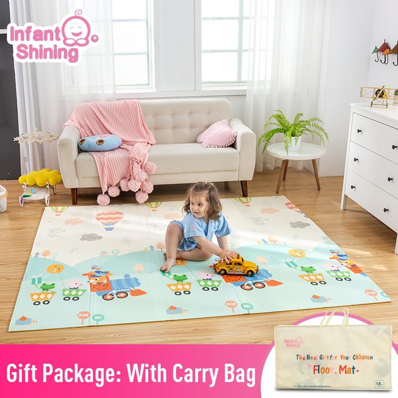 Bébé brillant bébé tapis tapis de jeu pour enfants 180*200*1.5 cm tapis de jeu plus épais et Bigge enfants tapis doux bébé tapis ramper tapis de sol - 2