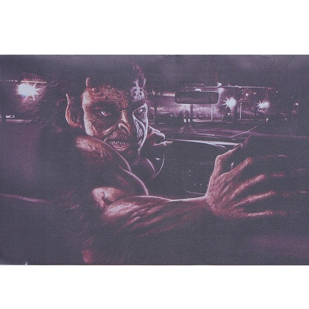3D Transparent Car Sticker Halloween Automobile Back Rear Window Decal Vinyl Film Horror Car Wraps crazy pit bull lady apbt dog vinyl window decal dog sticker