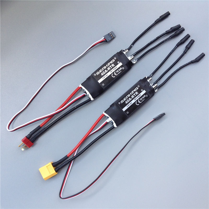 1pc Hobbywing Seaking 40a Esc Dual Way Bidirectional Water-cooled Esc 2-3s Speed Controller With 3.5mm/4mm Plug For Diy Rc Boats Back To Search Resultstoys & Hobbies