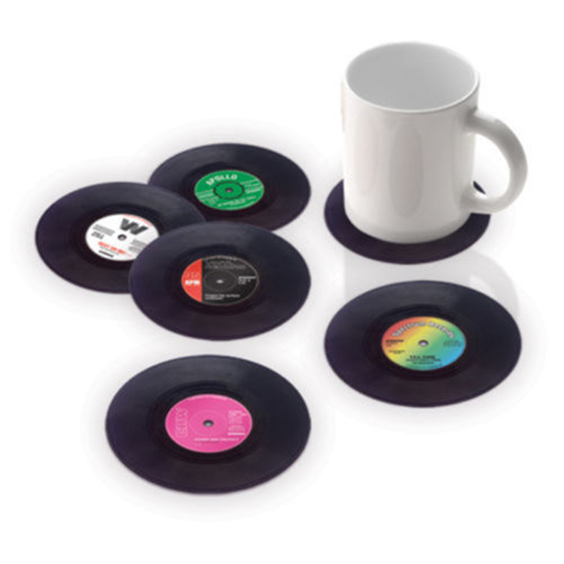 6pcs Lot Useful Food Grade Plastic Vinyl Coaster Novelty