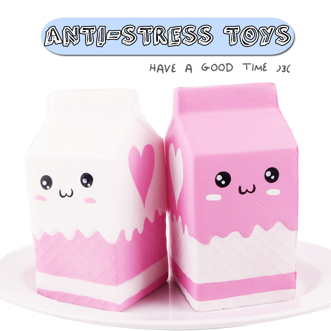 Kawaii Cute Soft Squishy Milk Bag Toy Slow Rising Milk Box Kid Fun Gift For Adults Relieves Stress Anxiety Squeeze Toys