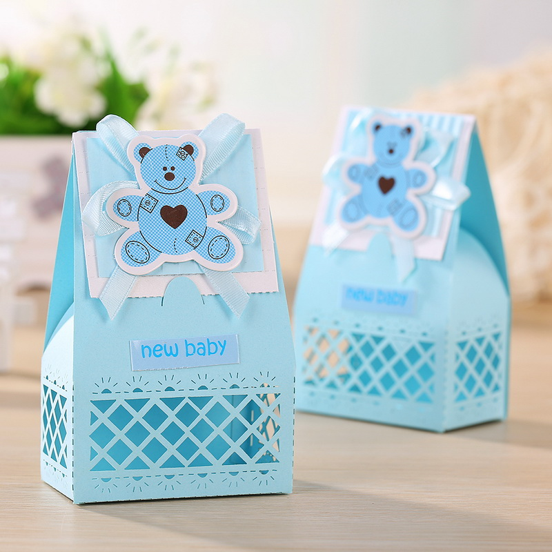 Pink and Blue Cute Baby Favors Boxes Baptism Bombonieres ...