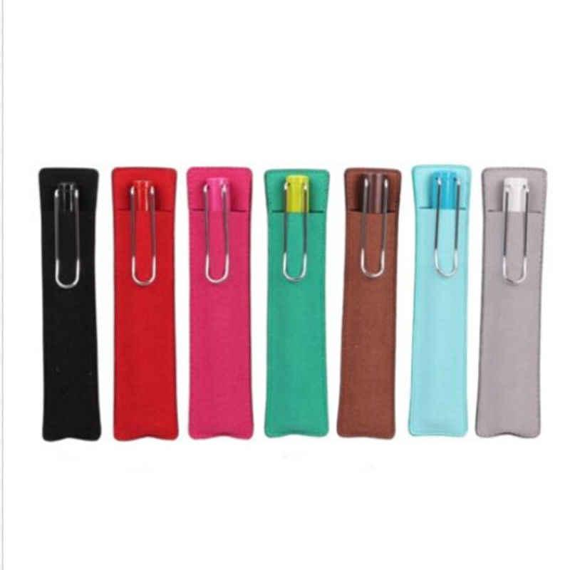 6 ألوان الساخن بيع فو فرشاة غطاء غلاف للهاتف حامي حقيبة منتجات تجميل جلدية القلم حقيبة مقلمة للأقلام