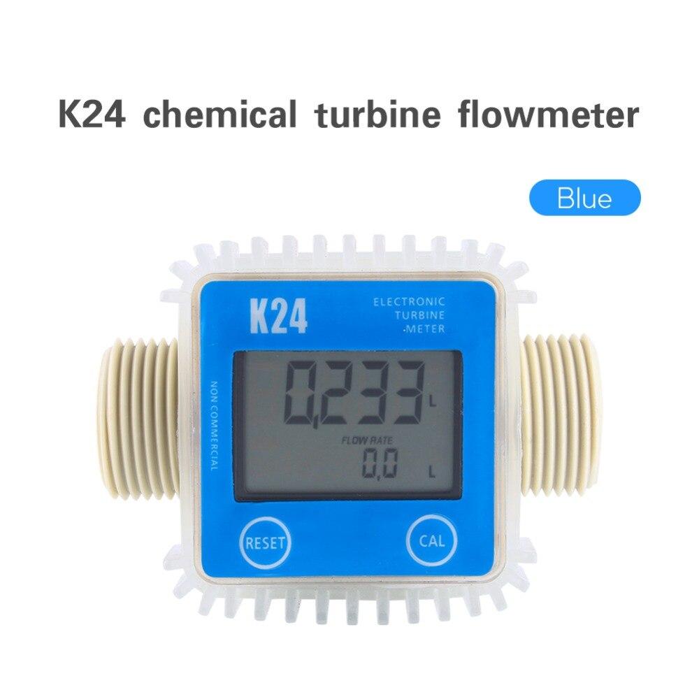 100% Wahr 1 Stücke K24 Lcd Turbine Digital Diesel Kraftstoff Flow Meter Weit Verbreitet Für Chemikalien Wasser