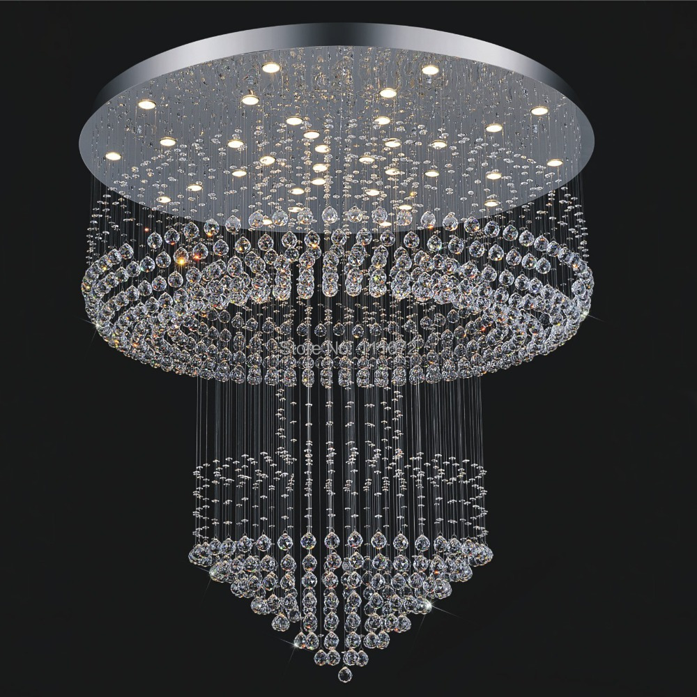 Large modern crystal chandelier lighting hotel light dia80h200cm large modern crystal chandelier lighting hotel light dia80h200cm lustre led crystal lamp in chandeliers from lights lighting on aliexpress alibaba arubaitofo Images