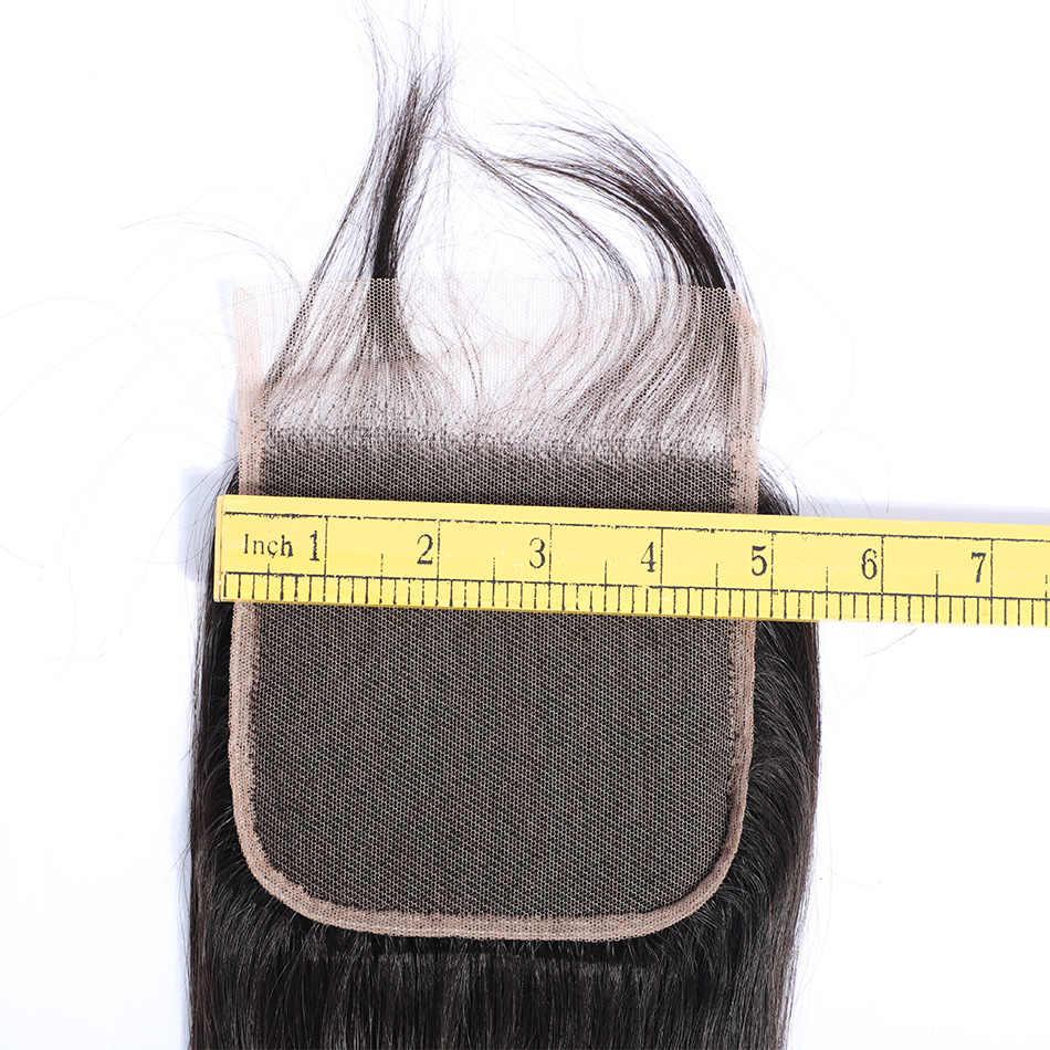 MOBOK Puruvian 5 дюймов x 5 дюймов Кружева Закрытие Прямо человеческие волосы 100% натуральный цветные волосы Реми Швейцарский кружева темно-коричневый плотность 130%