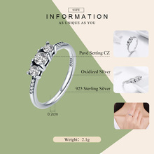 Fairytale Sparkling Clear CZ Sterling Silver Ring For Women