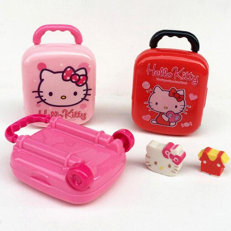 Novelty Cartoon Handbag And Travel Suitcase Eraser Student Writing Correction Rubber Supplies Office School Stationery Eraser