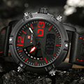 NAVIFORCE Top Luxury Brand Analog Led Watches Men Leather Quartz Clock Men's Army Military Sports Wrist Watch Relogio Masculino