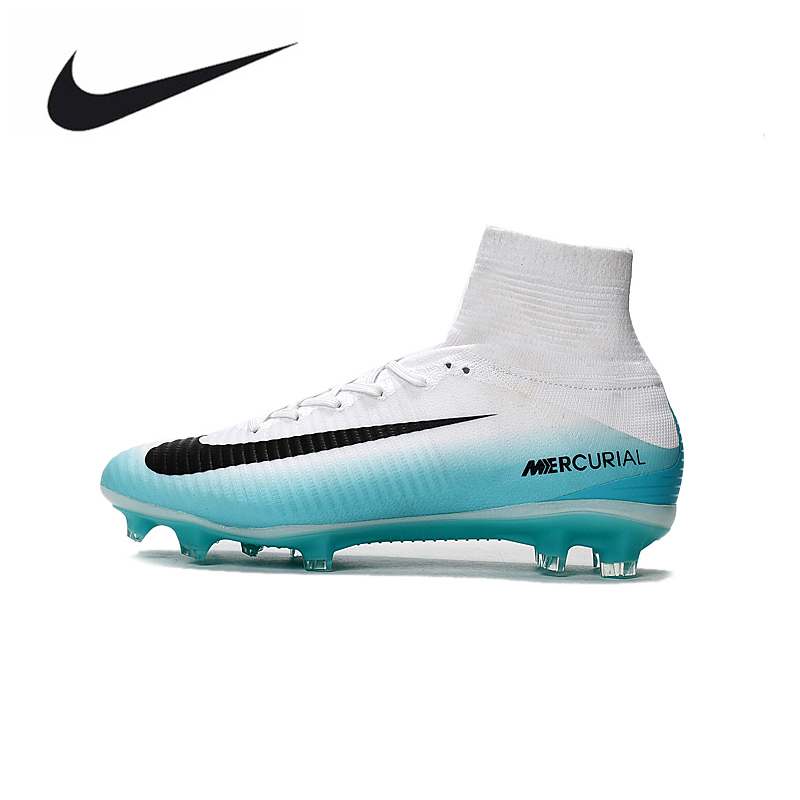d7ad71afb6b8 ... fg white black grey 0 5f8cb 17bd9; official nike mercurial superfly v  ag soccer shoes superfly white high ankle football boots outdoor for