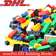 2017 New 1000Pcs/Set Creative Colorful Building Blocks DIY Bricks Educational Learning Compatible Model Toys For Children Gift