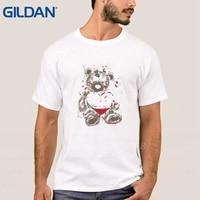 Tshirt Bear Afbeelding Drake Jerseys Hop Zwart Tee Shirts Homme Korte Mouwen Shirts Oversized 100% Katoen Online Winkelen Koop