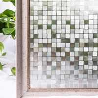 CottonColors Window Film Privacy Glass Sticker PVC Waterproof No-Glue 3D Static Decorative Home Decor  Size 45 x 200cm