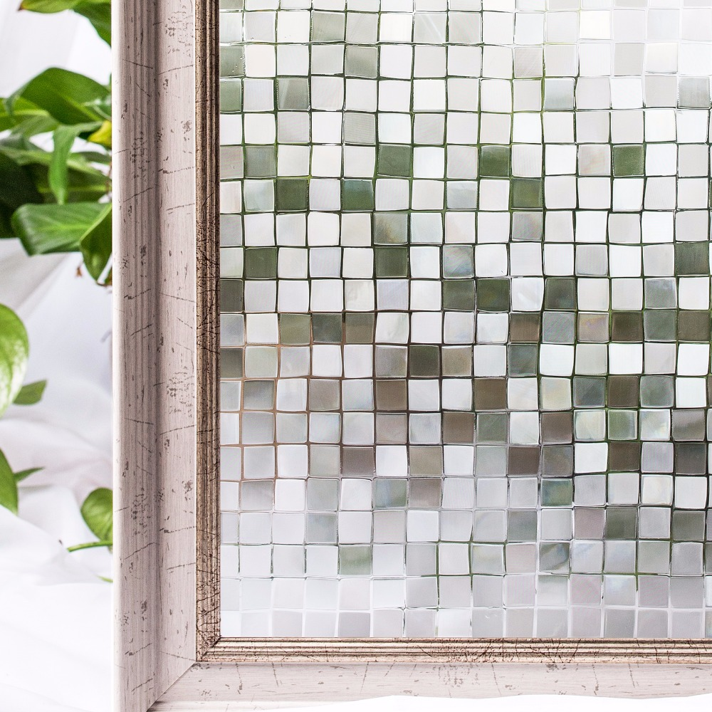 CottonColors Glasfolie Privacy Glas Sticker PVC Waterbestendig No-Glue 3D Statisch Decoratief Woondecoratie Afmeting 45 x 200cm