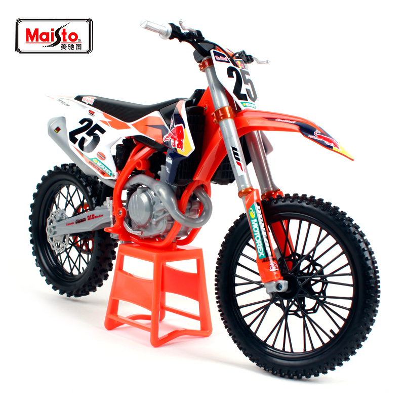 Maisto 1:6 Red Bull KTM Factory Racing KTM 450 SX-F 1# 25# Marvin Musquin Off-road racing MOTORCYCLE BIKE Model FREE SHIPPING