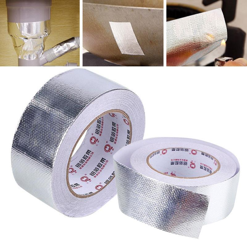 Vehemo Car Motorcycle Aluminum Foil Heat Shield Tape Adhesive Heat Exhaust Wrap Pipe Ducts Repairs Tape ford heat shield tape for wireing harness ford wiring diagrams  at eliteediting.co