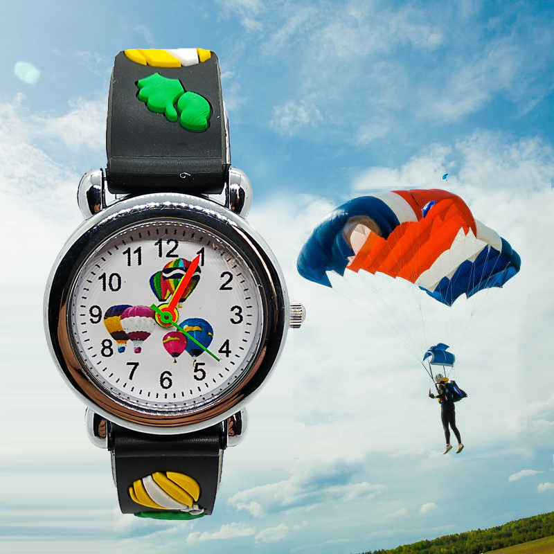 Free Shipping Sports Parachute Watch Children Waterproof Quartz Watches For Boys And Girls Hand Clock Learn To Time Kids Watches