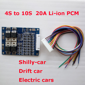 Image 5 - 10S 20A   lithium Polymer  lipo BMS/PCM/PCB battery protection board for 10 cells 18650 Li ion Battery Cell