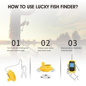 Image 5 - Vendita calda Fortunato FFCW1108 1 display a colori Senza Fili Allarme Fish Finder 40M/130FT profondità ecoscandaglio fish finder per richiamo di pesca