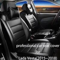Legua Автокресло Обложка набор для Лада Веста (2015 ~ 2018) роскошные кожаные аксессуары для интерьера для авто водонепроницаемые Автокресло Проте
