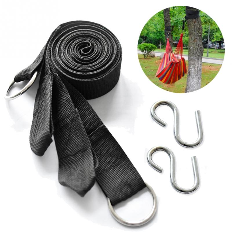 Top Quality 2PC Camping Strong Strap Belt Hammock Tree Straps Hanging Straps Rope With 2 Hooks