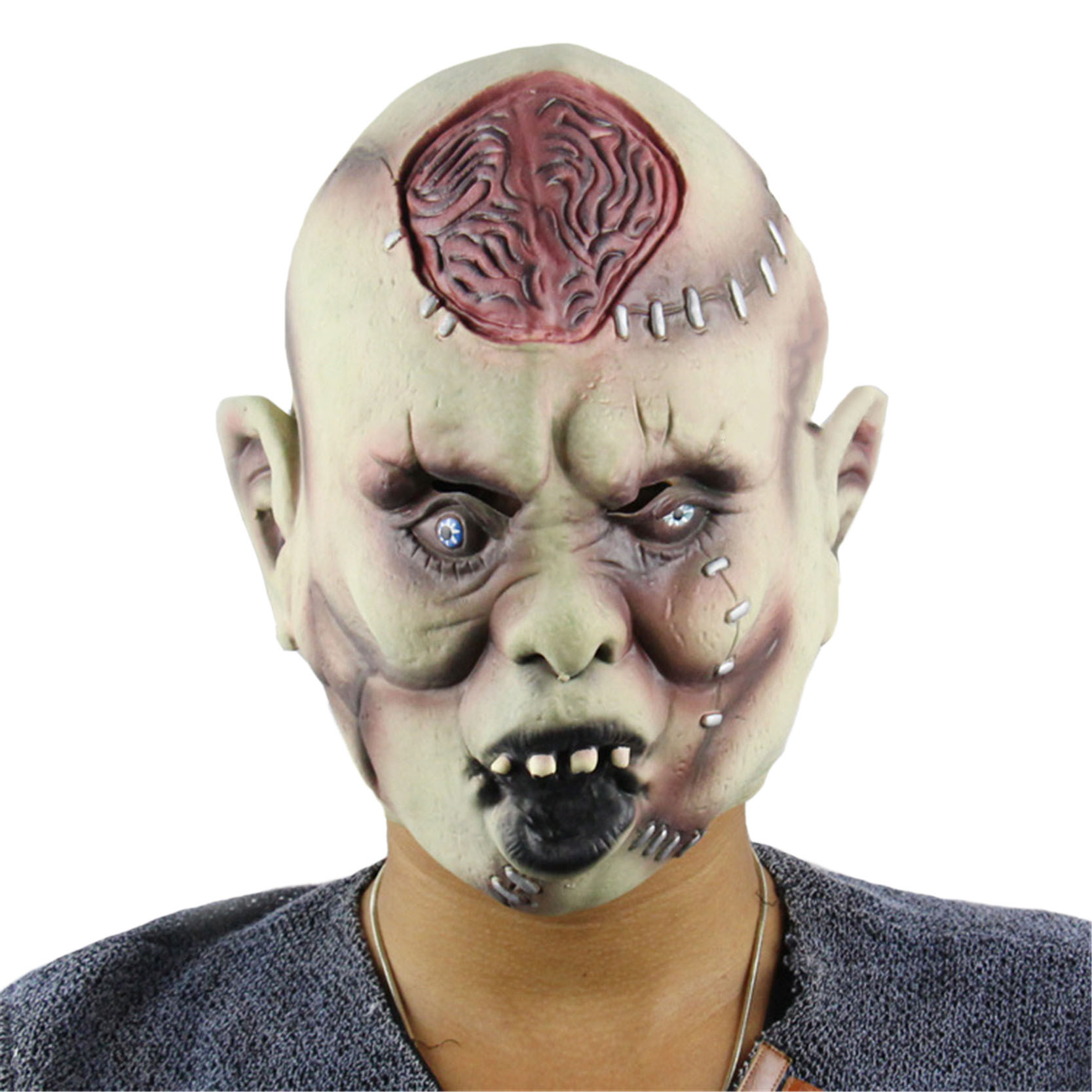 halloween mask party the walking dead mask creepy latex realistic crazy rubber super creepy party halloween costume mask y39 - Cheap Creepy Halloween Costumes